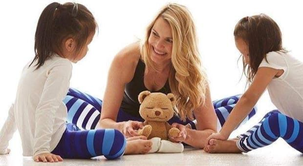Mommy and Me Workout and Exercise in K-Deer Leggings