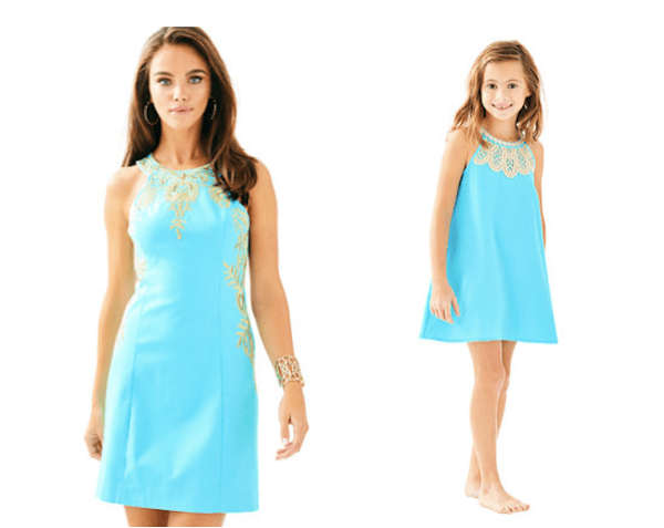 Mother Daughter Matching Lilly Pulitzer Blue Ibiza Shift Dress