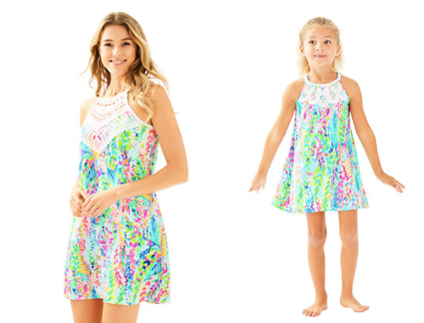 Mother Daughter Matching Lilly Pulitzer Multi Catch The Wave Shift Dresses