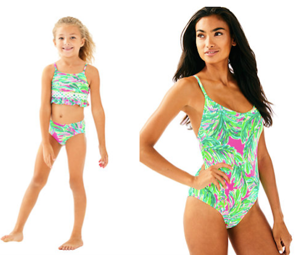 Mother Daughter Matching Lilly Pulitzer Multi Shady Lady Swimwear