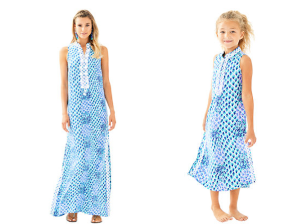 Mother Daughter Matching Lilly Pulitzer Resort White Toe In Jane Maxi Dresses