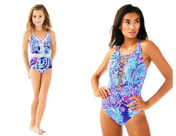 Mother Daughter Matching Lilly Pulitzer Twilight Blue Gypsea Swimwear