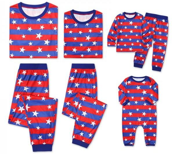Stars and Stripes Family Matching Pajamas