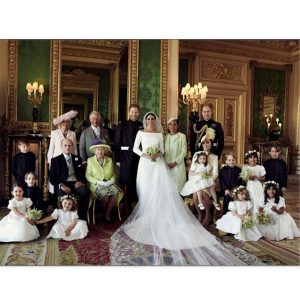 The Royal Family Matching Wedding Photo