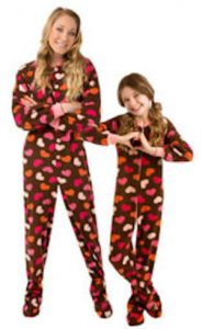 Mom and Me Chocolate Heart Pajamas