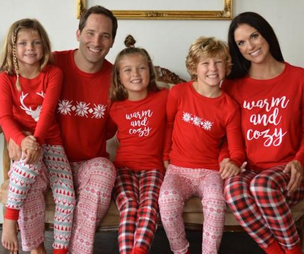 Family Matching Knit Holiday Mix and Match Christmas Pajamas Collection