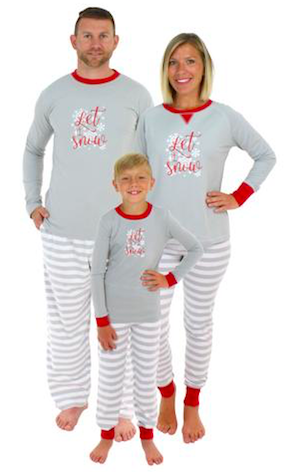 Family Matching Let it Snow Christmas Pajamas
