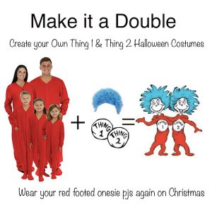 DIY Thing 1 and Thing 2 Halloween Costumes