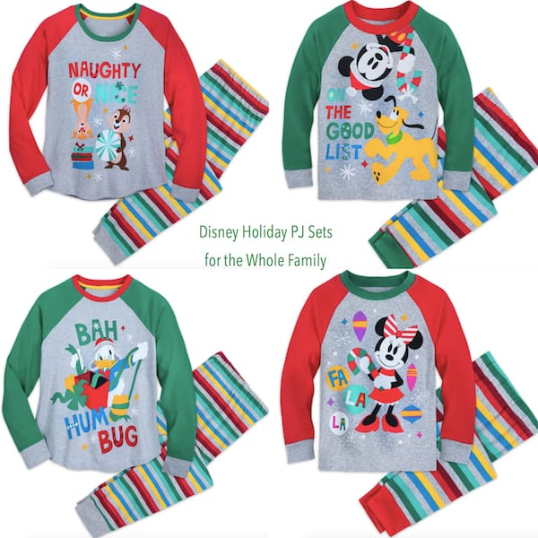 Disney Holiday PJ Sets