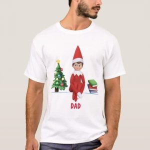 Elf on a t-shirt dad