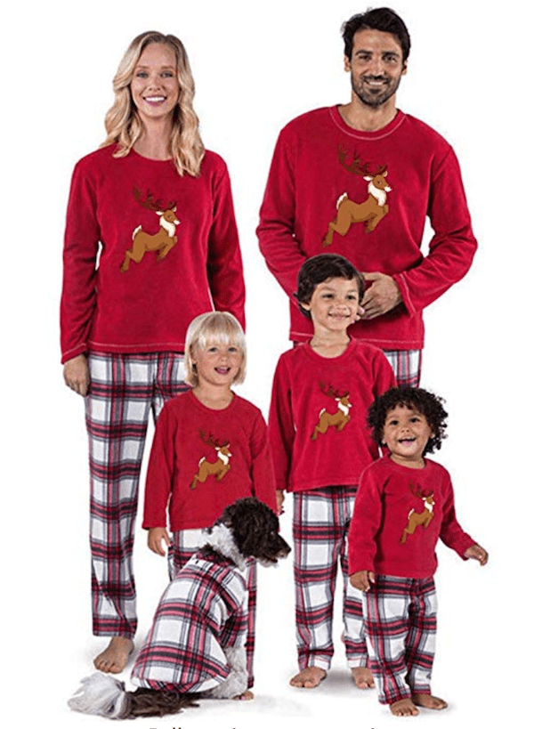 Family Matching Elk Pajamas