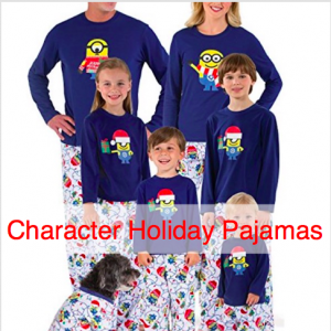 Family Matching Character Holiday Pajamas