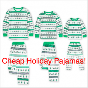 Family Matching Cheap Holiday Pajamas