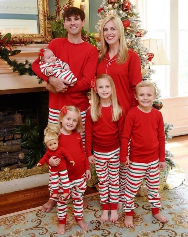 Family Matching Classic Striped Christmas Pajamas