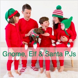 Family Matching Gnome Elf and Santa Christmas Pajamas
