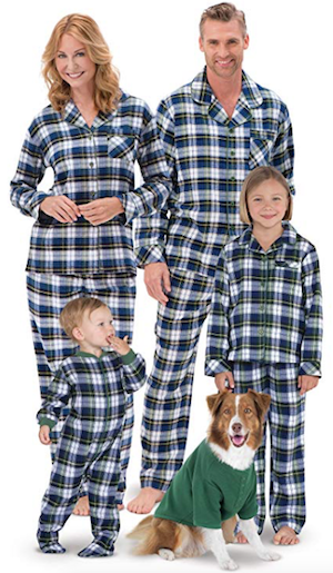 Family Matching Green Tartan Plaid Christmas Pajamas