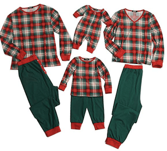 Family Matching Green and Red Plaid Christmas Pajamas