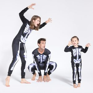 Family Matching Halloween Horror Skeleton Pajamas