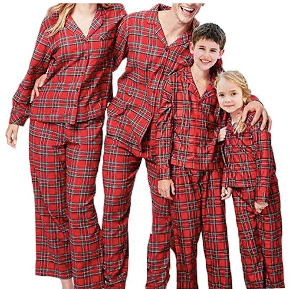 Family Matching Red Plaid Christmas Pajamas