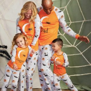 Family Matching Sketchy Spiders Halloween PJs