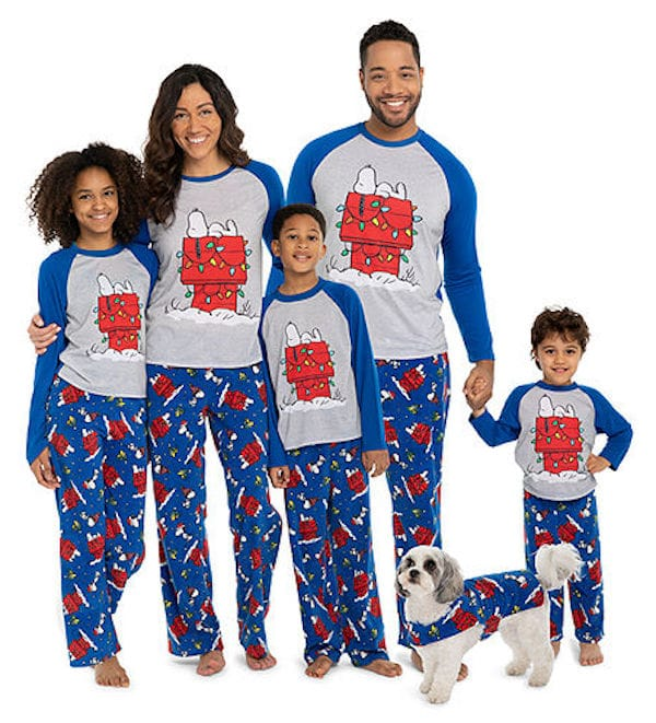 Family Matching Holiday Snoopy Pajamas