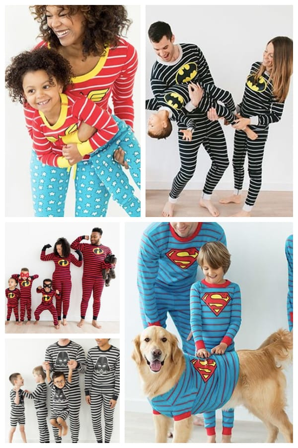 Family Matching Superhero Christmas Pajamas