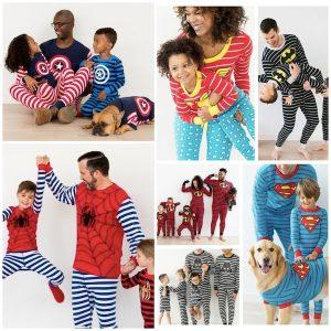 Family Matching Superhero Halloween Pajamas