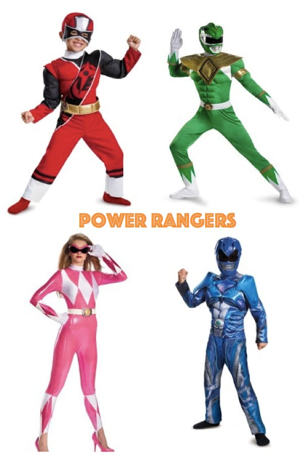 Family Power Rangers Costumes