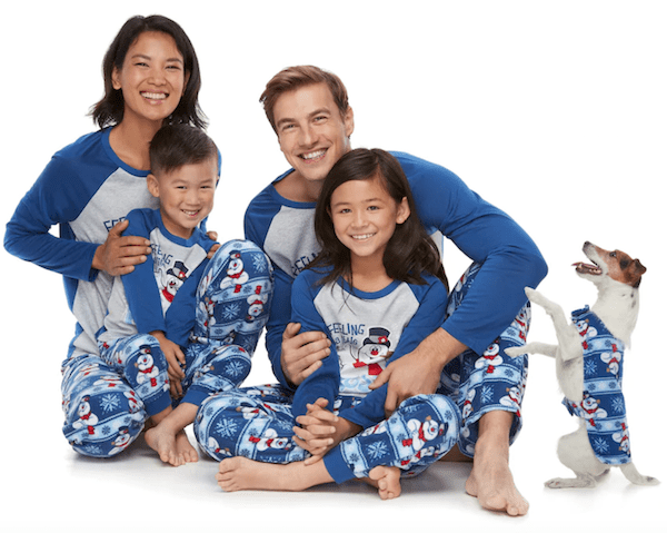 Family Matching Frosty the Snowman Pajamas