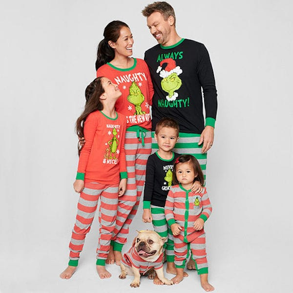 Family Matching Grinch Pajamas