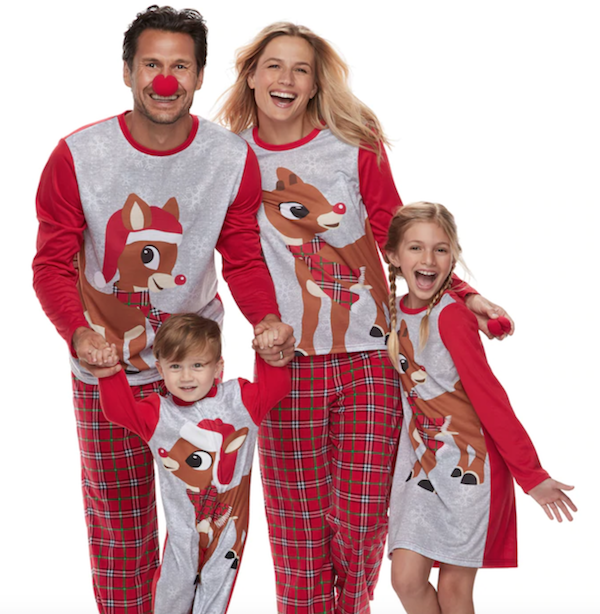 Family Matching Rudolph the Red Nosed Reindeer Pajamas