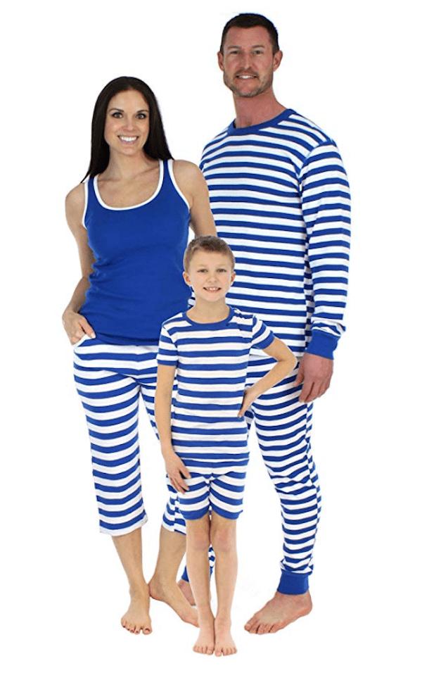 Family Matching Lightweight Striped Pajamas