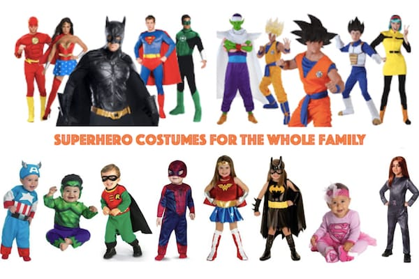 Superhero Costumes for the Whole Family