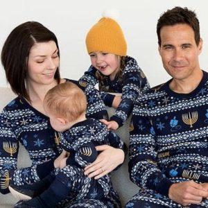 Organic Cotton Family Hanukkah Pajamas