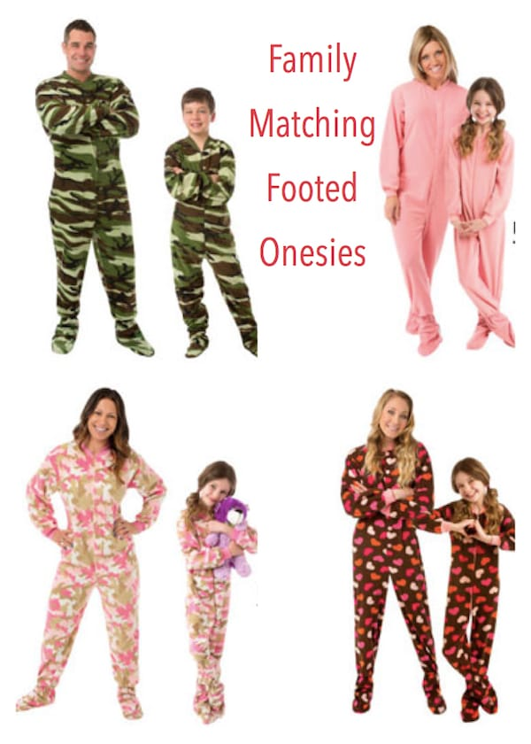 Family Matching Footed Onesies