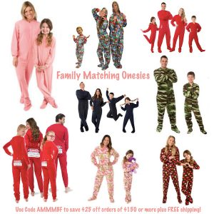 Family Matching Onesies Use Promo Code AMMMBF