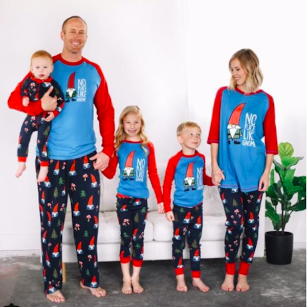 No Place LIke Gnome Family Matchng Christmas Pajamas