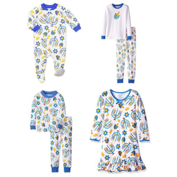 Sara Prints Kids Hanukkah Pajamas