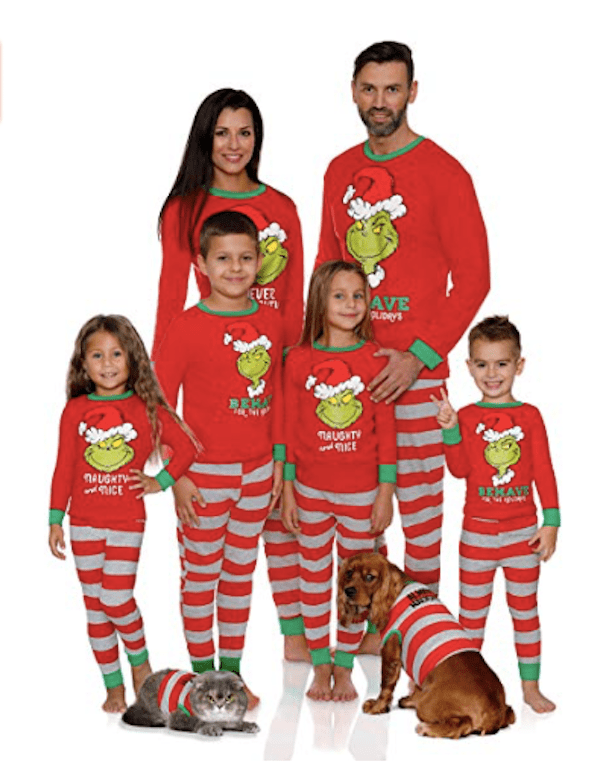 Dr. Seuss Family Matching Grinch Holiday Pajamas