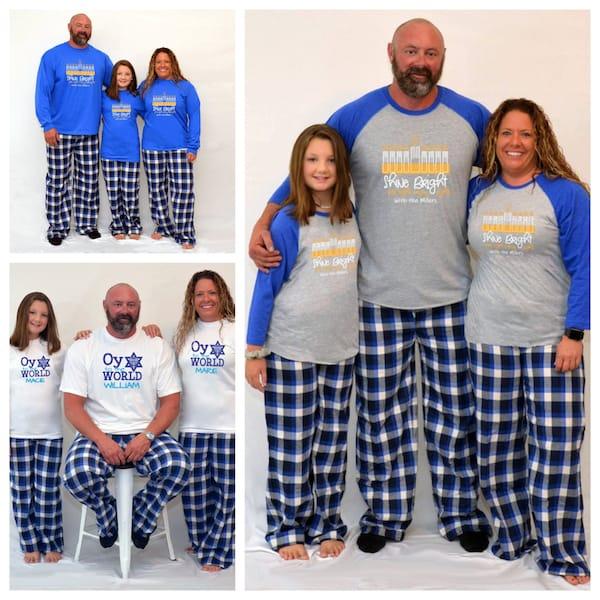 Family Matching Hanukkah PJs