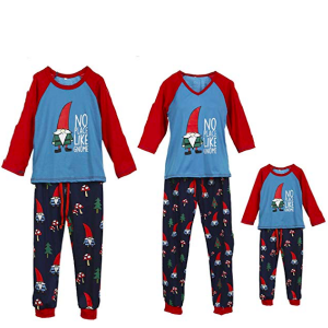 Family Matching No Place Like Gnome Christmas Pajamas