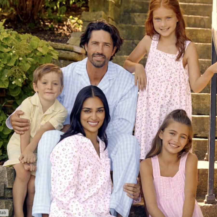 Family Matching Spring La Rosette Sleepwear