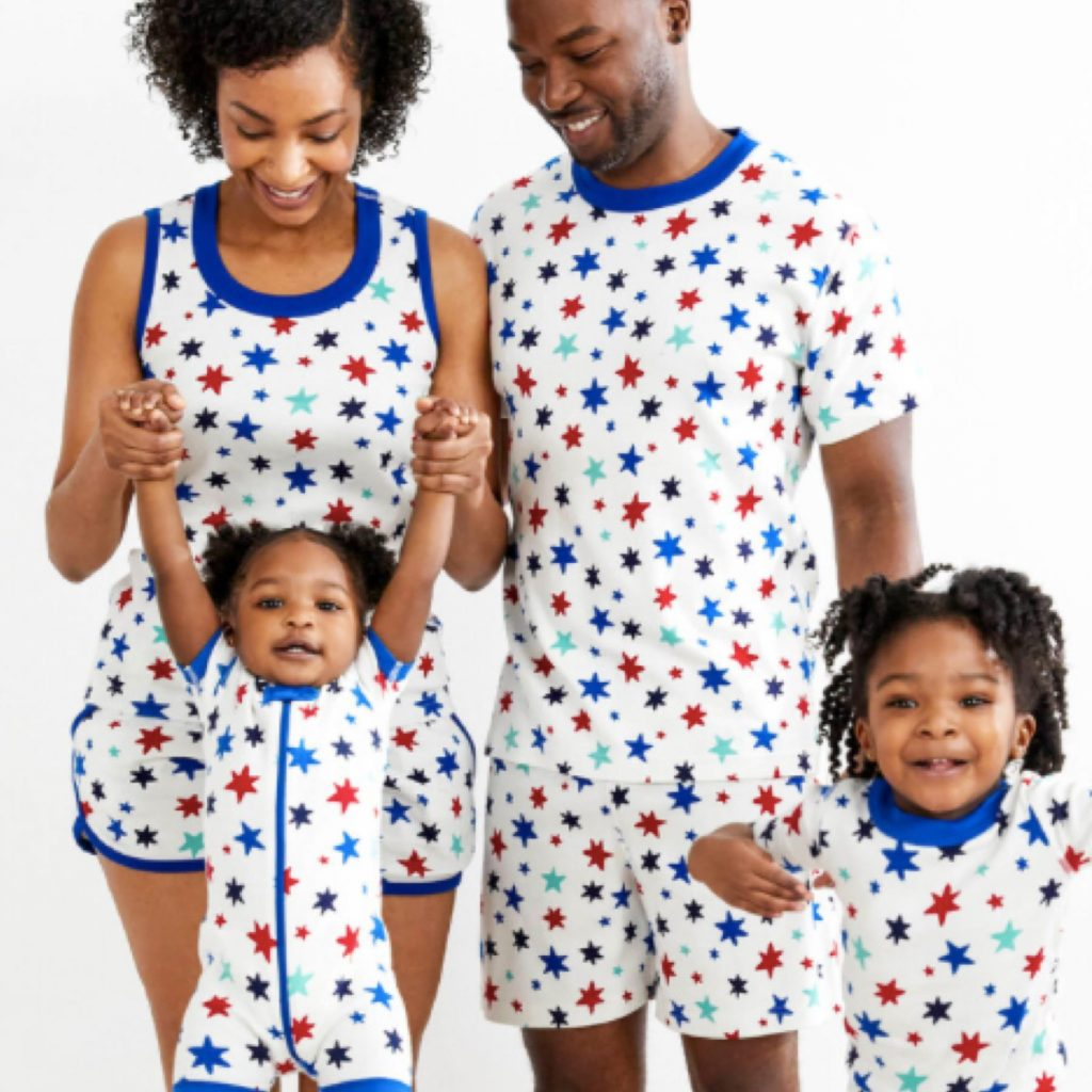 Family Matching Summer Stars Pajamas